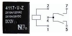 RELE 12VDC/10A 4117-U-Z